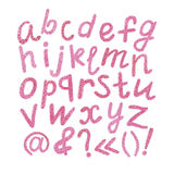 Watercolor alphabet. Watercolor hand drawn alphabet letters on white backgraund Stock Images