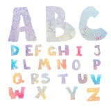 Watercolor alphabet Stock Images