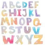 Watercolor alphabet Royalty Free Stock Photos
