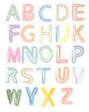 Watercolor alphabet Royalty Free Stock Images