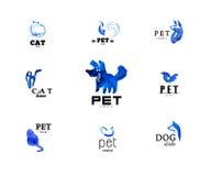 Watercolor animal logo Royalty Free Stock Photo