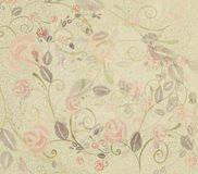 Watercolor antique hand painted roses. On a textured parchment ground Royalty Free Stock Photography