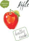 Watercolor Apple Στοκ εικόνες με δικαίωμα ελεύθερης χρήσης