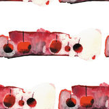 Watercolor apple pattern Stock Photo