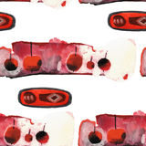 Watercolor apple pattern Stock Photos