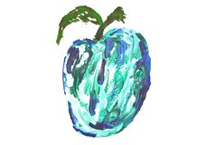 watercolor of apple royalty free stock image