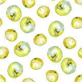 Watercolor apples pattern 2. Watercolor apples pattern on white 2 Royalty Free Stock Photos