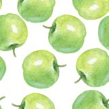 Watercolor apples, Seamless pattern 1 Stock Image