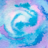 Watercolor aqua  background-abstract hand drawn painting. Stock Images