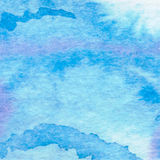 Watercolor aqua  background-abstract hand drawn painting. Royalty Free Stock Photography