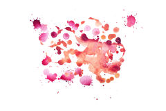 Watercolor aquarelle hand drawn color shape art paint splatter stain.  Royalty Free Stock Image
