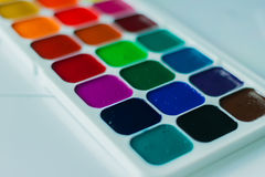 Watercolor aquarelle paint. In white background royalty free stock images