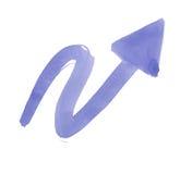 Watercolor arrow Stock Image