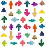 Watercolor arrows pointers. Specify directions Stock Images