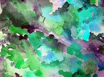 Watercolor abstract background floral pattern wildflowers meadow fiel bright blurred textured decoration hand beautiful wallpaper. Watercolor art abstract Stock Images