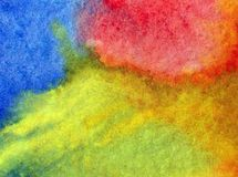 Watercolor art abstract background fresh sky sun shine beautiful modern textured wet wash blurred fantasy. Art abstract background extruded in watercolor. nature royalty free stock image