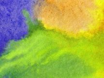 Watercolor art abstract background fresh sky sun shine beautiful modern textured wet wash blurred fantasy. Art abstract background extruded in watercolor. nature stock photo