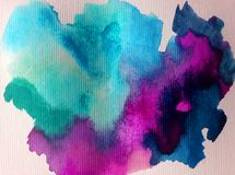 Watercolor art abstract background sky cloud texture wet wash blurred fantasy. Art abstract background extruded in watercolor. nature bright wash blurred Royalty Free Stock Photo