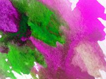 Watercolor art background abstract colorful textured wet wash blurred overflow blots Stock Image