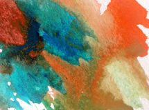 Watercolor art background abstract colorful textured wet wash blurred overflow blots. Art background extruded watercolor. textured wet wash blurred brush Stock Photo