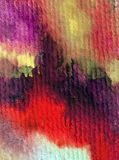 Watercolor art background abstract red violet purple pink strokes textured wet wash blurred fantasy. Art abstract background extruded in watercolor. nature Royalty Free Stock Images