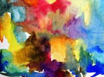Watercolor art background abstract underwater world ocean wet wash blurred splash vibrant. Art abstract background executed watercolor. textured strokes blots royalty free illustration
