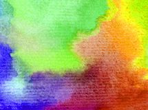 Watercolor art background delicate colorful nature day sky rainbow fresh romantic. Art background abstract extruded in watercolor technical. colorful textured Royalty Free Stock Image