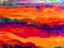 Watercolor art background abstract pink violet blue orange. Watercolor art background extruded watercolor. wet wash blurred brush wallpaper light delicate vector illustration