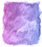 Art. Watercolor violet and blue vintage paint background. Beautiful planet. This is a watercolor. Art hand drawn texture. beautiful color Royalty Free Stock Photography