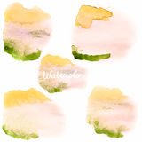 Watercolor art hand paint on white. EPS 10 Stock Photos