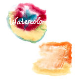 Watercolor art hand paint on white. EPS 10 Royalty Free Stock Images