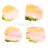 Watercolor art hand paint on white. EPS 10 Stock Images