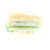 Watercolor art hand paint on white. EPS 10 Stock Photography