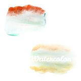 Watercolor art hand paint on white. EPS 10 Stock Photo