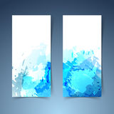Watercolor art splatter abstract modern banner Royalty Free Stock Images