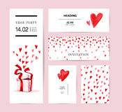 Watercolor artistic hand drawn Valentine day design element. Royalty Free Stock Image