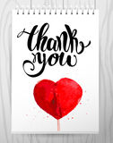 Watercolor artistic hand drawn Valentine day design element. Royalty Free Stock Photos