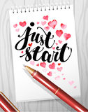 Watercolor artistic hand drawn Valentine day design element. Royalty Free Stock Photo