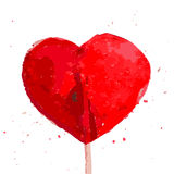 Watercolor artistic hand drawn Valentine day design element. Stock Photography