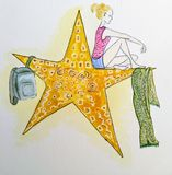 The star girl stock illustration