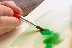 Watercolor artwork stock photos