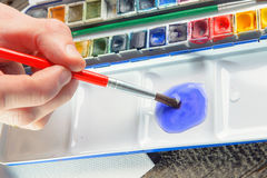Watercolor artwork Stock Images