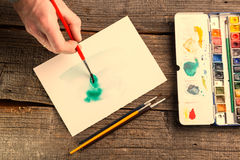 Watercolor artwork Stock Photography