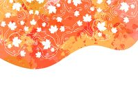 Watercolor Autumn Abstract Background Stock Image