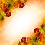 Vector watercolor autumn background royalty free stock photos