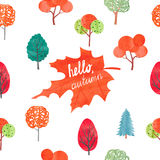 Watercolor autumn background Stock Image