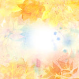Watercolor autumn background. Royalty Free Stock Images