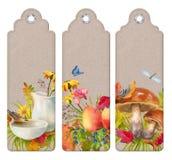 Watercolor Autumn Bookmark royalty free illustration