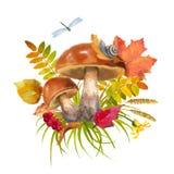 Watercolor Autumn Composition