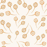 Watercolor autumn floral seamless Royalty Free Stock Photography